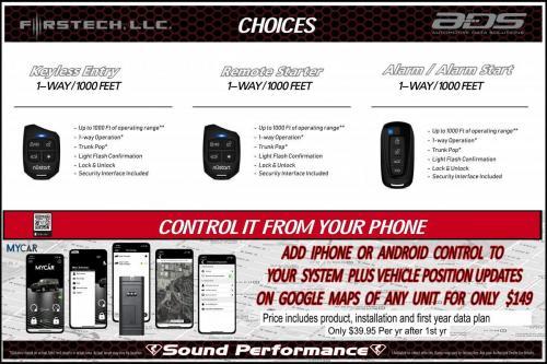 Choicse SP Remote Starter Alarm Adv